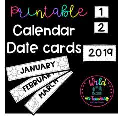 Printable Calendar Date Cards - Teacha!