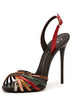 Giuseppe Zanotti ~ Stiletto Ankle Strap Sandal,