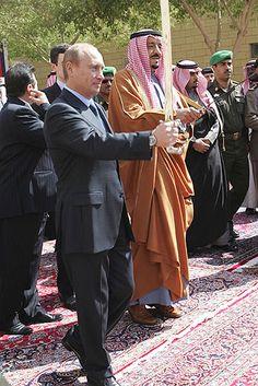 Prince Salman bin Abdul Aziz, governor of Riyadh Province and brother of the Saudi King and Putin