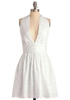 If, like me, you like to buy clothes a couple seasons in advance. Caught Your Eyelet Dress, #ModCloth