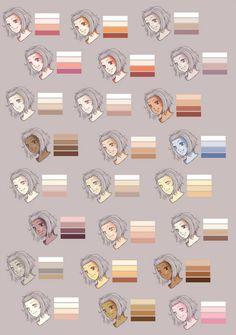 Skins 5 - (Anime, Farbe, zeichnen) Anime Art Paint Tool Sai Hautfarben & co:( Digital Art Tutorial, Digital Painting Tutorials, Painting Tools, Art Tutorials, Drawing Tutorials, Digital Paintings, Sketch Painting, Painting Art, Painting Process