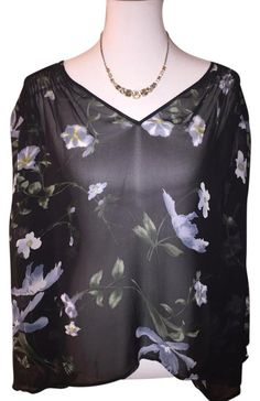 Joie $65 N * W * T Size L ** Free Shipping ** Sheer Silk Floral Kanni Top. Free shipping and guaranteed authenticity on Joie $65 N * W * T Size L ** Free Shipping ** Sheer Silk Floral Kanni TopHand-done English smocking at the shoulders, back ...
