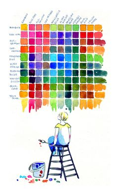 Mix chart for personal reference of colours I use the most. Also I have a colour theory exam today but it is totally unrelated haha. Tools: watercolour, 140lb watercolour paper Thanks for looking!&...