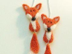 Fox Jewelry Needle Felted #Jewelry #Fox #Earrings by marinalubomirsky, $100.00