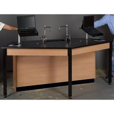 Stevens ID Systems Science Workstation Surface Type: Phenolic, Color: Ebony Star, Frame Finish: Maple