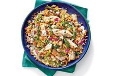 Budget-Friendly Quick-Fix Meals: Grilled Chicken and Toasted Couscous Salad with Lemon-Buttermilk Dressing
