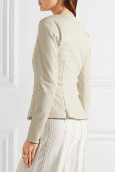 The Row - Anasta Leather Jacket - Ecru - US12