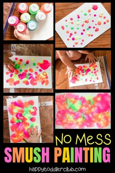 Love this toddler art project! No mess toddler craft that turns out beautiful! Will definitely frame this and hang it on the wall. Easy indoor toddler activity for days when you need a simple craft without the mess.