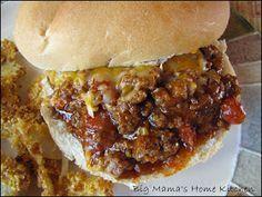 Big Mama's Home Kitchen: Honey BBQ Cheesy Sloppy Joes