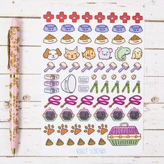 Decorate your planner journal or other items with these cute pet themed stickers. Track your vet appointments, remember to clip nails or track when the food is running low!  Please note that there are limited numbers of these sheets available and some designs will not be restocked so get in now if you see one that you like!  ----------------------------------------------------------------------------------------------- Paper Type: Gloss sticker paper. Want a matte version? Check here…