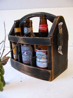 Handmade Beer bottle six pack carrier | Groomsmen gift idea