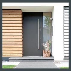 25 modern front door with wood accents - decoration on the front door .- 25 moderne Haustür mit Holzakzenten – Deko Vor Der Haustür Ideen 25 modern front door with wood accents / door - Modern Entrance, Modern Entry, Modern Front Door, Front Door Design, Front Door Colors, Modern Room, Front Door Entrance, House Entrance, Front Entry