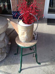 $325. Addjustable vintage factory stool finished in green. Shop now at www.urbansettler.com
