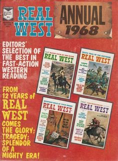 Spring 1968 Real West Magazine Annual Samuel Colt Pony Express Red Cloud