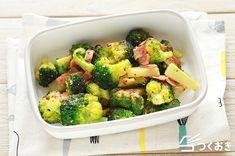 ブロッコリーとベーコンの粒マスタード炒めのレシピ/作り方   つくおき   作り置き・常備菜レシピサイト