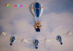 Balony z filcu girlanda + zawieszka - Filcovo - Girlandy dla dzieci