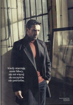 polish actor Marcin Dorociński is wearing VITKAC collections in photo shoot for Elle Men, pr Anna Fludra coat Polished Man, Love Is Sweet, Photo Sessions, Photo Shoot, Crushes, Interview, Anna, Handsome, Collections