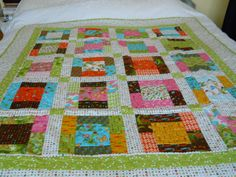 Single Bed Patchwork Quilt  Child's comfort by ComfyCosyCrafts, $200.00