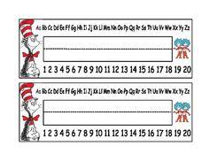 Dr. Seuss student desk name plates