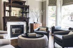 A Victorian with a bit of modernfunk - desire to inspire - desiretoinspire.net - Jeff Schlarb - fireplace