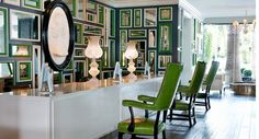 Beautiful use of green, black and white.  Kelly Wearster, Viceroy Hotel, Santa Monica