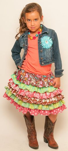Custom Boutique Amy Butler fabric Soul Blossom by hottotscoolkids2, $53.00  This skirt is too stinkin cute!