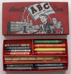 1940s Milton Bradley Crayon Pencil Case by Christian Montone, via Flickr