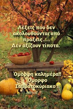 Good Morning Good Night, Greek Quotes, Wonderful Images, Wonders Of The World, Self Love, The Good Place, Cool Photos, Pumpkin, In This Moment