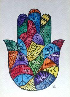 Digital art digital downloadHamsa Hand Hamsa от ArtworksEclectic