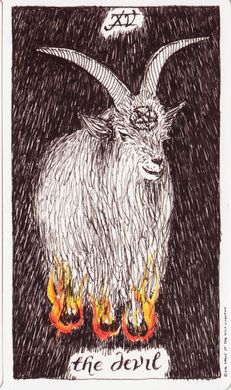 Image is from the wild unknown tarot by kim krans; image & wild unknown tarot is the sole copyright of kim krans.  www.thewildunknown.com  7.1.'14 #weeklytarotscope for the Week of Jun 29 - Jul 5, '14  The daily number is 15; the corresponding card is the Devil (XV). Today remember to draw upon the power of your inner darkness so it can be made conscious. Whatever is not conscious can be destructive in nature.