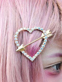 heart broken hair pin #pixiemarket