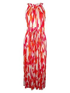 Calvin Klein Womens Printed Halter Maxi Dress EmberMulti 4 ** You can get more details by clicking on the image.
