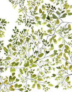 10/8/2015 Could this be my accent wall? Treetops | Green Watercolor by Isabelle Sykes