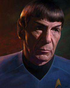 ArtStation - Good Bye, Spock by Andrew Hunt Enter The Dragon, Star Trek Movies, Silly Memes, Star Trek Universe, Star Trek Ships, Star Trek Voyager, Love Stars, Geek Art, Spock
