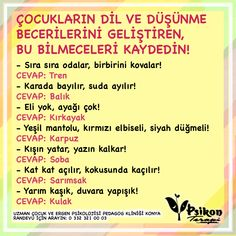 Turkish Lessons, Riddles, Pre School, Children, Kids, Drama, Reading, Funny, Books