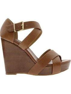 i really need some brown wedges  These might be too talk for Kate, but I love them!