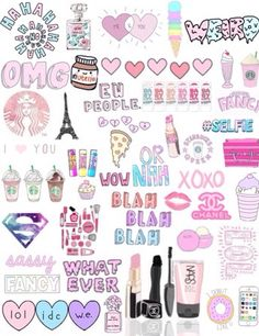Cute little stuff for collages Tumblr Wallpaper, Cool Wallpaper, Iphone Wallpaper, Stickers Cool, Tumblr Stickers, Cute Backgrounds, Cute Wallpapers, Diy Bobby Pin Holder, Tumblr Transparents