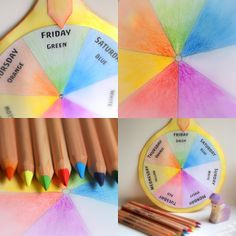 weekly color wheel download - to teach child colors and days of the week