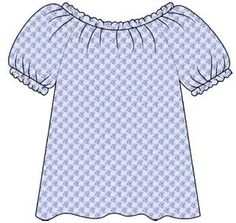 Free PDF tutorial on sewing a peasant top/blouse (adult size) - also gives instructions on how to make your own pattern too best instructions on how to put it together I've read!