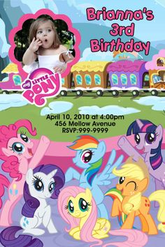 My Little Pony Birthday Party Invitations 24 HOUR by Mrsinvites, $6.99
