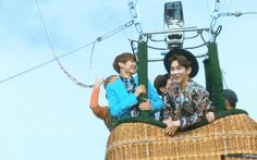 Of course my baby has is to start trouble by jumping up and down, scaring the life out of Key lmao - SHINee