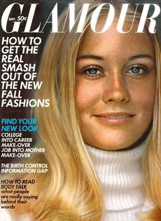 Cybill Shepherd covers Glamour Magazine (US)-September 1969 Cybill Shepherd, Vintage Magazines, Vintage Ads, The Heartbreak Kid, Cool Magazine, Magazine Covers, Sixties Fashion, Gothic Fashion, Vintage Fashion