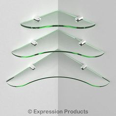 Stylish multi pack #acrylic corner shelves - 150mm, 200mm, #250mm #(0003-005),  View more on the LINK: http://www.zeppy.io/product/gb/2/121138620642/