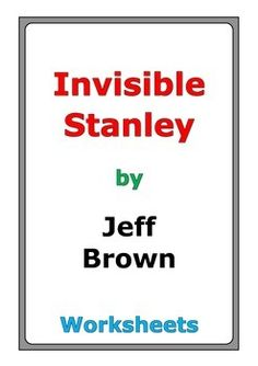 Printables Flat Stanley Worksheets worksheets flat stanley and the story on pinterest jeff brown invisible worksheets