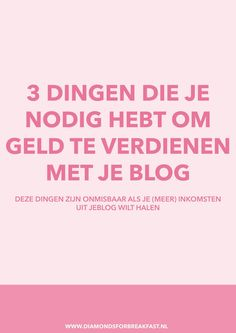 Steeds meer mensen willen geld verdienen met bloggen. Wil jij ook geld verdienen met je blog? Dit zijn de 3 dingen die je ervoor nodig hebt.