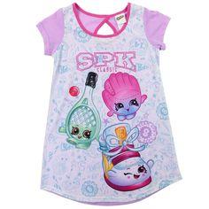 Girls Kids Character Shopkins Short Pyjamas Nightwear Pjs Cotton Short Manche