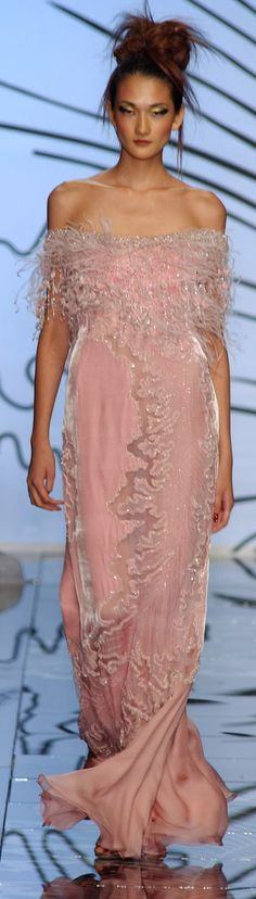 I am so in love with this beautifully delicate lovely precious feminine pink gown.  B.