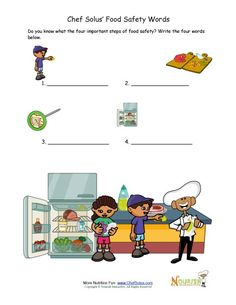 Worksheets Food Safety Worksheets food safety words unscramble puzzle for children on pinterest writing activity great as a worksheet or quiz