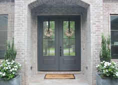 front door painted benjamin moore wrought iron