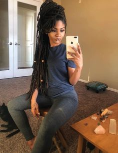 Crochet dreads Braids are a very popular hairstyle which will completely change your style. With these, you are able to have dreads but Latest Crochet Braids Hairstyles to Wear This Season 2019 Box Braids Hairstyles, Dreadlock Hairstyles, My Hairstyle, Popular Hairstyles, African Hairstyles, Long Hairstyles, Hairstyles Pictures, Dread Braids, Black Girl Braids